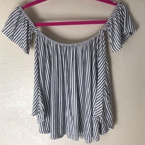 Off the shoulders stripped top